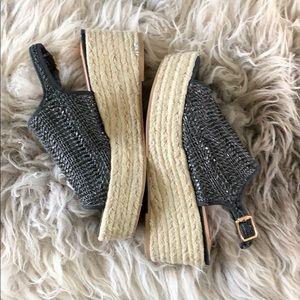 Steven Madden platform sandal, sz 8 like new
